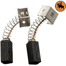 Escobillas de Carbón para CASALS DL115 amoladora -- 5x5x10,5mm -- 2.0x2.0x3.9''