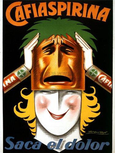 advertising-medicine-aspirin-bayer-argentina-woman-mask-smile-poster-print-18x24-affiche-lv976