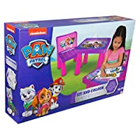 Sambro PWP9-Y17-4144-1 Paw Patrol Girls Sit and Colour Table and Chair Set, Multi