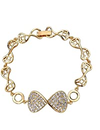 Chooseberry Valentine Collection Gold Plated American Diamond Infinity Bracelet For Women & Girls Daily/Party...