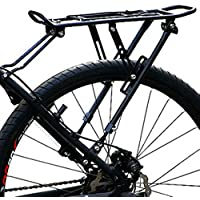 Gimitunus Bicicleta Pannier Rack Bike Cargo Racks Mountain Carrier Rear Rack Asiento de Carga 50Kg Equipaje
