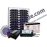 Kit solaire pour site isolé 12V 10W 41Wh/jour