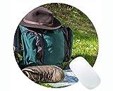 Kompass-runde Mausunterlage mit Rastkante, technischer Bauplan Kompass-Wandergummi-runde Mausunterlage