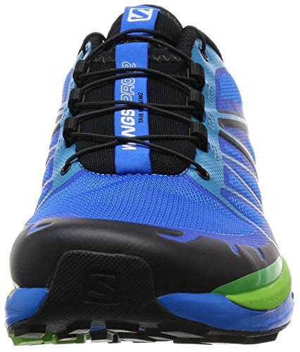 Salomon Wings Pro 2, Chaussures de Running Entrainement Homme Bleu (Bright Blue/Black/Tonic Green)