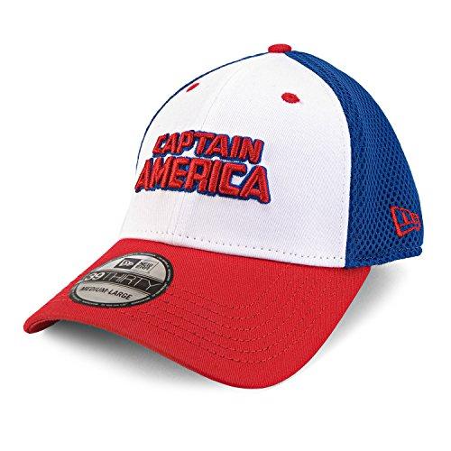 Marvel Captain America Wordmark Neo Fitted Baseball Cap -