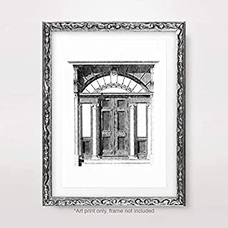 DOORWAY HALL HALLWAY ARCHITECTURE ARCHITECTURAL BLACK WHITE DRAWING ILLUSTRATION ART PRINT Poster Home Decor Wall Picture A4 A3 A2 (10 Sizes)