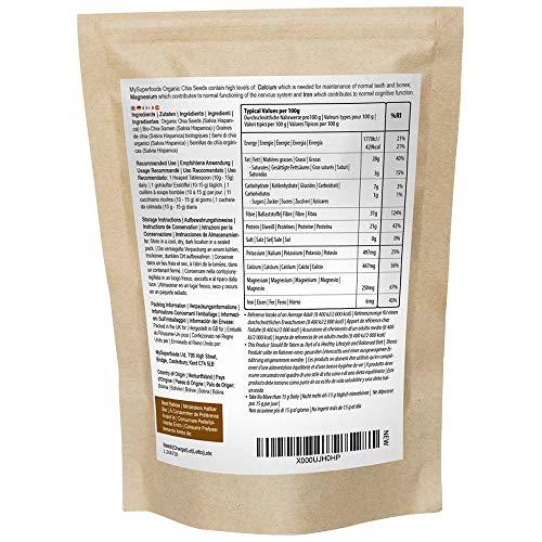 Bio Chia-Samen (1 kg) Höchste Qualität Bio-Garantie der Soil Association Von MySuperfoods