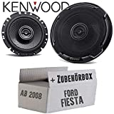 Lautsprecher Boxen Kenwood KFC-PS1796-16cm 2-Wege Koax Einbauzubehör - Einbauset für Ford Fiesta MK7 Front Heck - JUST SOUND best choice for caraudio
