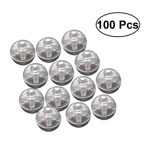 Lichter Mini Runde Ballon Lampe Roly-Poly Ornament für Halloween Weihnachten Hochzeit Geburtstag Party Dekoration 100 STÜCKE (Bunt) ()