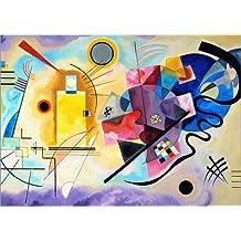 Cuadro sobre lienzo 100 x 70 cm: Yellow, red and blue de Wassily Kandinsky - cuadro terminado, cuadro sobre bastidor, lámina terminada sobre lienzo auténtico, impresión en lienzo