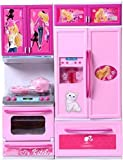 Best Barbie Play Kitchens - O&B Kid's Modern Barbie Kitchen Play Set (Multicolour) Review