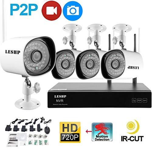 Gusaman 4-Kanal WLAN HD Komplettset Videoüberwachung Kamera Domekamera HDMI Nachtsic#$@ Embedded Network Video