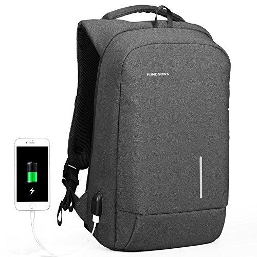 Fresion Sac à dos antivol pour ordinateur portable Sac à dos résistant à l'eau avec port de charge USB pour 15,6 pouces ordinateur pour femmes et homm...