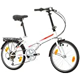 Bikesport Folding Bicicleta Plegable Ruedas de 20' Shimano 6 velocidades