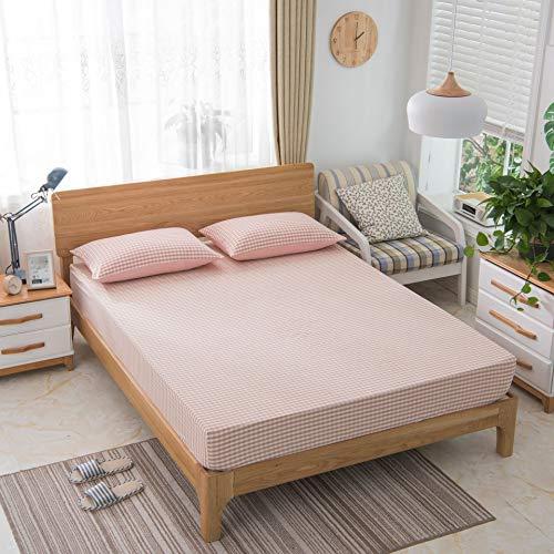 JUNDY Matratzeschoner Matratzeschutz in Verschiedenen Größen Anti-Allergisch Atmungsaktiv Heimtextilien-Kit waschen 7 120 * 200 (Männer Hygiene-kit Für)