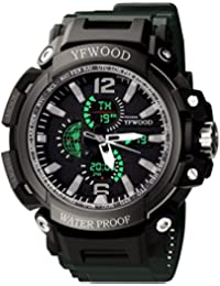 YFWW- Reloj de pulsera analógico digital para hombre 3042cfebb99