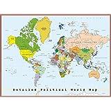 Postereck - 0556 - Detaillierte politische Weltkarte mit Hauptstädten - Poster 80.0 cm x 60.0 cm
