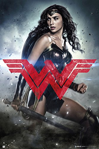 empireposter Batman vs Superman-Wonder Woman Glyph Film Movie Poster Plakat Druck-Grösse 61x91,5 cm, Papier, bunt, 91.5 x 61 x 0.14 cm -