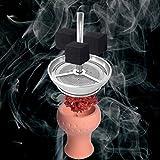 Premium Shisha Kaminaufsatz BLOCKARD aus Edelstahl [für Köpfe bis 6cm Durchmesser (nicht im Lieferumfang enthalten)] - Kokosnuss Natur-Kohle | Wasserpfeife Tabak | Kamin-Kopf Aufsatz | Alufolie Haube -