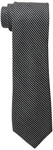 Cole Haan Men's Everett Stripe Tie, Black, One Size Mens Black Cole Haan