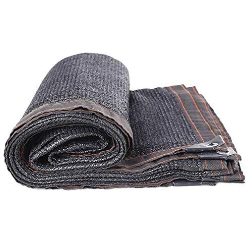 CUUYQ Sunblock Shade Net Cloth, Schattierungsnetz Sonnensegel mit ÖSen Sonnenschutz Segel Tuch Sunblock Schatten Segel Sommerabdeckung,Black_6x7m/18x21ft