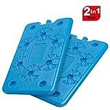 SPICE Set 2 Mattonelle Slim Ghiaccio refrigerante da Freezer Ice Gr 400 Ideale per Viaggi Vacanze PIC-nic. Dimensione 25 cm x 14 cm x 1.5 cm