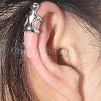 Silver Climbing Man Naked Climber Ear Cuff Helix Cartilage Earring 1PCS by elegantstunning