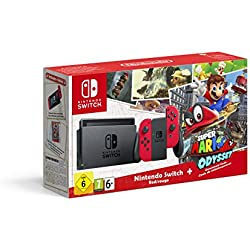 1 de Nintendo Switch - Consola + Super Mario Odyssey Bundle (Código Descarga)