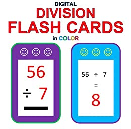 Digital Division Flash Cards in Color (1-9 Shuffled Twice) by [McMullen, Chris, Kivett, Carolyn]