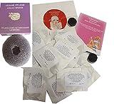 Wolkenseifen ® Deocreme Probenset mit 15 Proben Deodorant Deo-Creme + Konjac Schwamm Lavendel