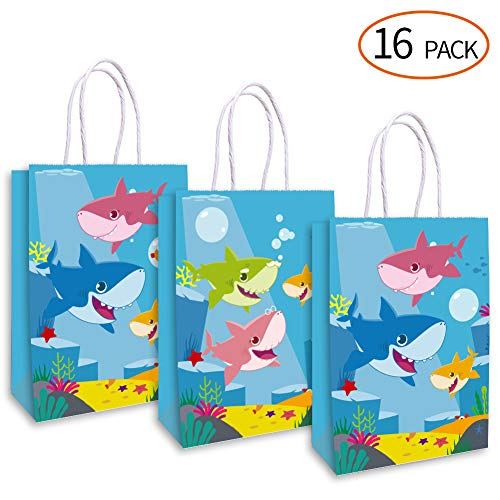 4bf11c151 Happy Shark Family Party Bags, Bolsas de golosinas, golosinas y golosinas,  Shark Gift