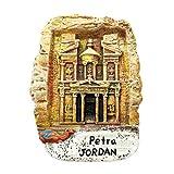 Weekinglo Souvenir Petra en Jordania Imán de Nevera 3D Resina Artesanía Hecha A Mano Turista...