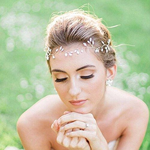 aukmla Braut Kopfbedeckung Schmuck Hochzeit Haar Rebe und Haar-Accessoires für Frauen und Mädchen