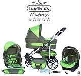 Chilly-Kids-Matrix-II-3-en-1-Poussette-combine-sige-auto-inclus-les-adaptateurs-habillage-pluie-moustiquaire-roues-pivotantes-62-couleurs-01-olive-vert