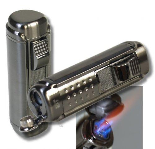 WinJet Zigarren Feuerzeug Titan 4fach Jetflamme-Bohrer 2 inkl. Lifestyle-Ambiente Tastingbogen - Feuerzeug Zigarren-cutter Und