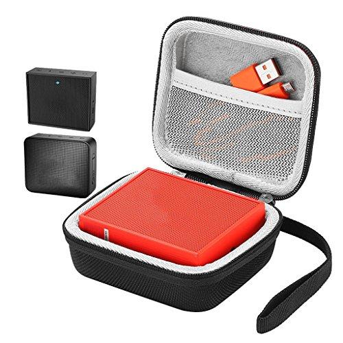 Chiic Tragbare Tasche für unterwegs, für JBL Go und JBL GO 2 Bluetooth-Lautsprecher, Eva-Reißverschluss, Stauraum, mit Netzstoff für Ladegerät und Kabel