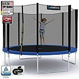 Kinetic Sports Outdoor Trampolin Gartentrampolin für Kinder und Erwachsene mit Randabdeckung und Sicherheitsnetz Ø 335 cm