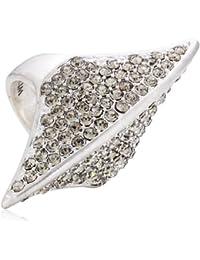 Pilgrim Jewelry Damen-Ring aus der Serie Ringe versilbert grau 4.4 cm verstellbar Gr. 51-59 271316134