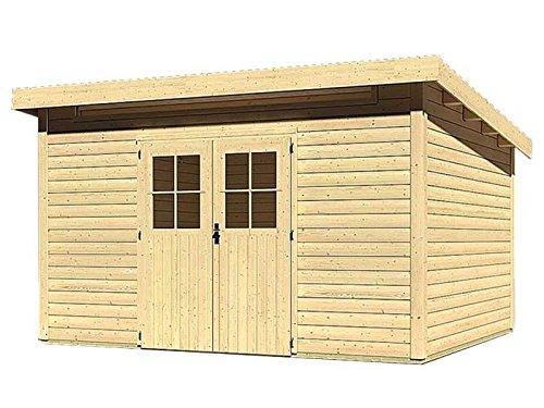 Karibu Woodfeeling Gartenhaus Kulpin 9 natur 28 mm Außenmaß (B x T): 364 x 304 cm Dachstand (B x...