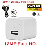 #7: Jentron 12MP Spy Camera White Mobile Charger Hidden Camera in Power Socket Support up to 32GB Memory Card JTMC12