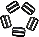 Schieber Stopper 25 mm Kunststoff schwarz Verschiedene Mengen. (5 Stück)
