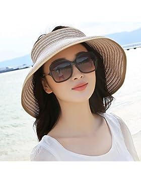 Sombrero de Paja, sombrero para el sol, bloqueador solar, sombrero de playa portable sombrero para el sol, grandes...