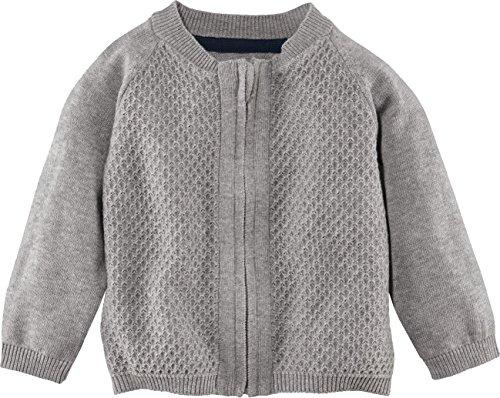 lupilu® Baby Jungen Strickjacke aus 100% Bio-Baumwolle mit Reißverschluss (grau, Gr. 86/92)