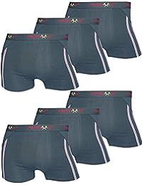 6er Pack Herren Retroshorts Boxershorts schwarz dunkelblau & mix M L XL oder XXL