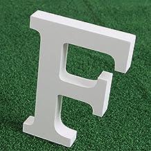 Letras madera blancas alfabeto,Alfabeto de madera blanca pura A-Z Decoraciones modernas Para la boda