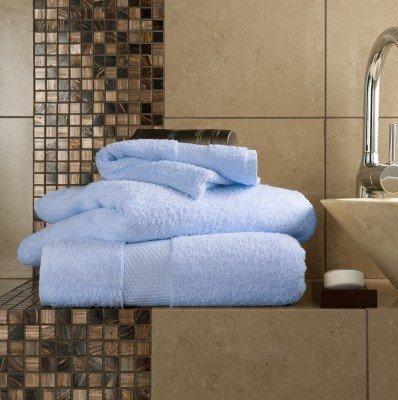 6Stück Handtücher Set Ägyptische Baumwolle 700GSM Extra Soft Top Qualität Luxus Miami (2x Badelaken, 2x Badetücher und 2x Handtücher) Chambray (Schwarze Handtücher Aus ägyptischer Baumwolle)