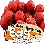 Bag Up Baits Red Crab Glugged 15mm Carp Boilies With Free Delivery