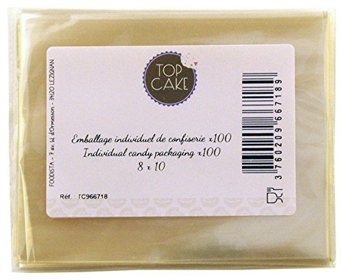 Top cake - Emballages de confiserie x 100 Rectangle 8x10 - TopCake