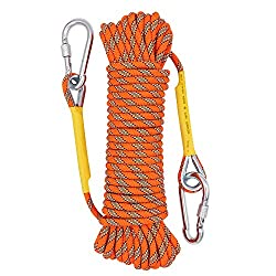 Tresbro Climbing Rope Home Fire Emergency Escape Rope 10M Orange, Multifunctional Cord Safety Rope for Hiking Caving Camping Rescue Exploration and Engineering Protection.