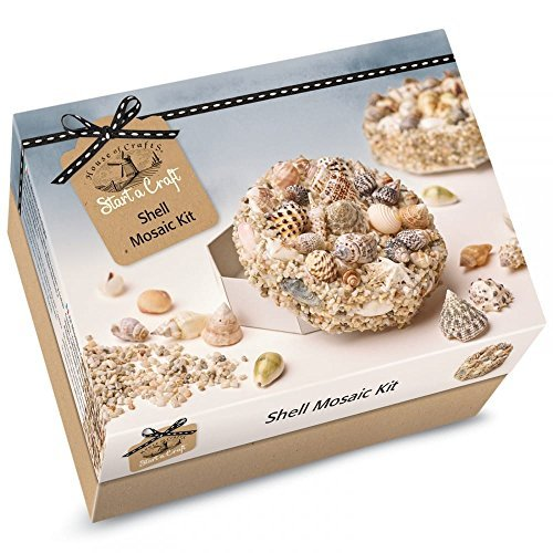 House Of Crafts Shell Mosaic Starter Craft Kit Makes 2 Keepsake Boxes